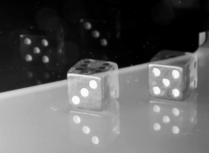 in this photo I was looking for a game of shadows, lights and numbers Dad Bw Bw_collection Close-up Day Dice Five Gambling Indoors  Light And Shadow No People Shadow Still Life Three