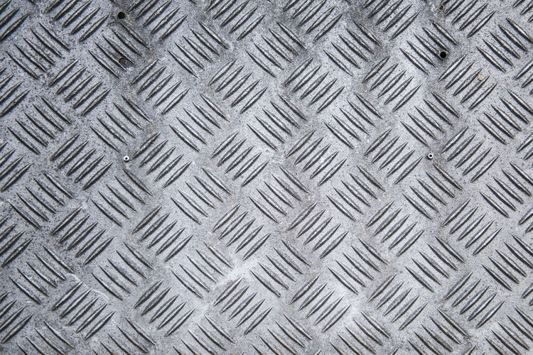 Alloy Backgrounds Close-up Crisscross Day Design Diamond Shaped Flooring Full Frame Gray Indoors  Metal No People Pattern Repetition Shape Sheet Metal Silver Colored Steel Textured  Toughness