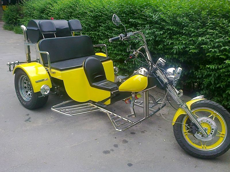 Motorcycle Day Handmade No People Outdoors Speed Stationary Transportation Trikebike Vehicle Yellow