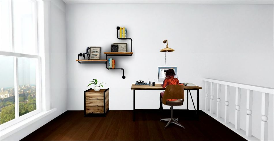 Bright Room Computer Desk Desktop Digital Art Freelance Life Freelancer Home Office Home Sweet Home Laptop Office Secondlife Secondlifeavatar Sunny Day White Room