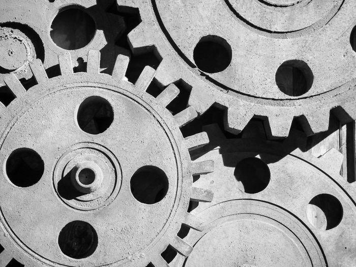 Zahnrad Maschine Getriebe Gearwheels Monochrome Bw