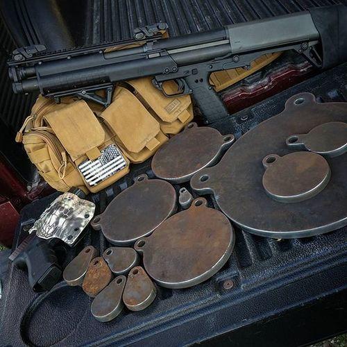 Thanks for the new steel targets, Harnessmachineandfab ! Gunporn KelTec KSG GLOCK Merica