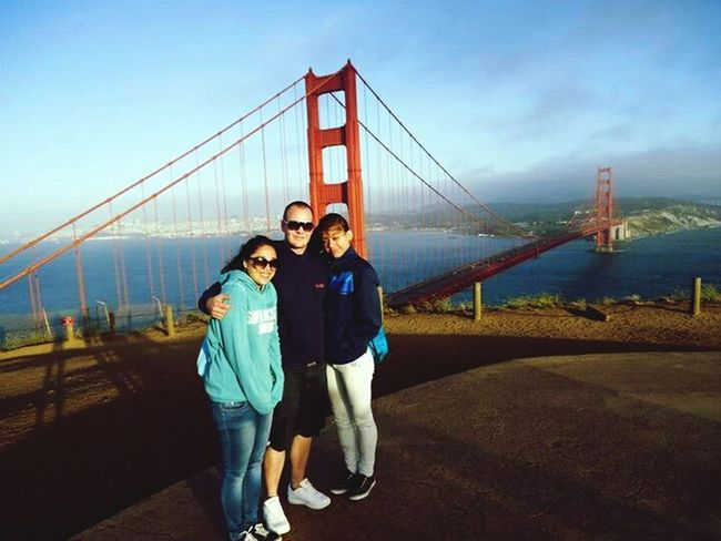 To windy but it was nice ?? Golden Gate Bridge Sanfrancisco Acting Like A Tourist With Friends Visiting Friends Best Travel