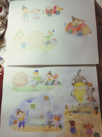 水彩 Illustration Art, Drawing, Creativity Hello World Drawing Drawin  Watercolor Enjoying Life Happy Hi!