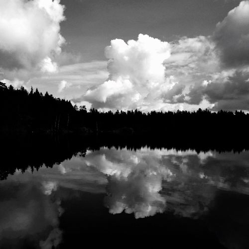 Cloudy days by the lake SWEDEN_bw Blackandwhite MADE IN SWEDEN