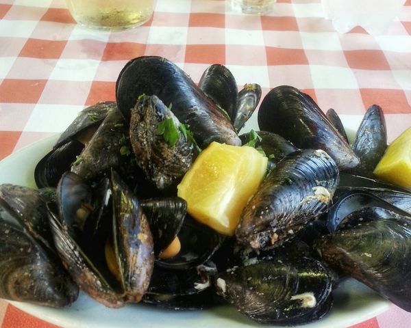 """""""Muscoli al verde"""" Food Photography Seafoods Food Smartphone Photography Muscoli Moules Mussels Muscheln / sea Tavern  / Coquillage"""