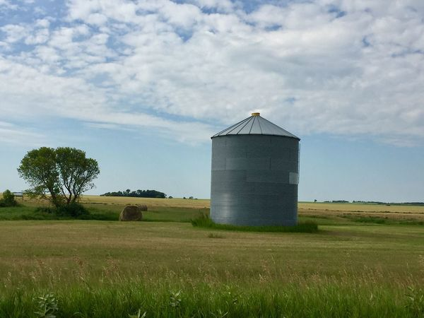 Grain bin Grain Prairie Canada Farm Storage Countryside