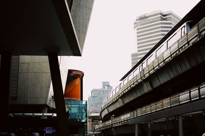 Architecture Built Structure City Low Angle View Skyscraper Modern Building Exterior Outdoors Day Illuminated No People Sky Train Station Siam Paragon Siam Square Streetlife The Great Outdoors - 2017 EyeEm Awards