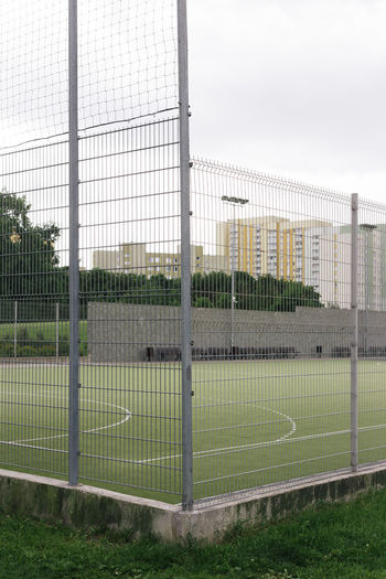 City City Life Cityscape Competition Day Goal Post Grass Growth Net - Sports Equipment No People Outdoors Playing Field Pollen Portrait Soccer Soccer Field Soccer Goal Sport Urban Urban Exploration Urbanphotography Urbex Urbexphotography Warsaw Warszawa