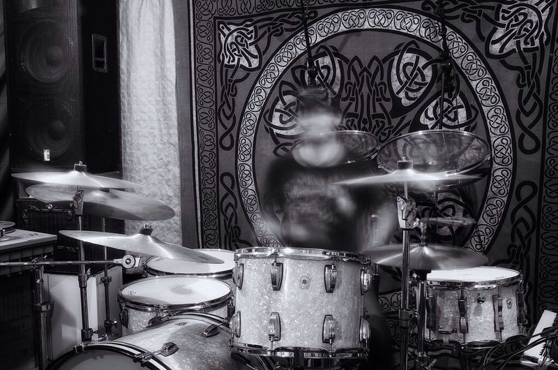 Ghost drummer... What Does Music Look Like To You? Drums Blackandwhite Music