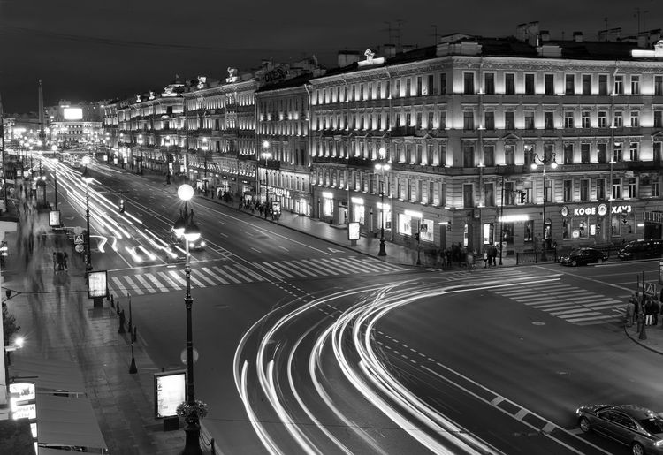 Black And White Cityscapes Night Lights Nightphotography Nightshot Monochrome Photography