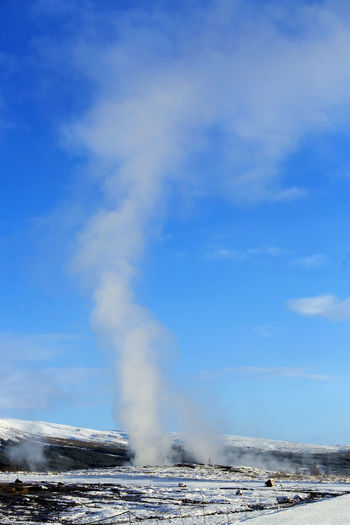 Blue Cloud - Sky Day Erupting Geyser Hot Spring Iceland Iceland Memories Iceland Trip Iceland_collection Nature No People Outdoors Sky Smoke - Physical Structure Strokkur Strokkur Geysir Travel Travel Destinations Travel Photography
