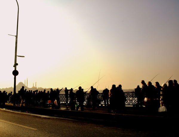 City City Life Clear Sky Istanbul Landscape Leisure Activity Lifestyles Nature Outdoors Road Sky Street Light Sunset Turkey