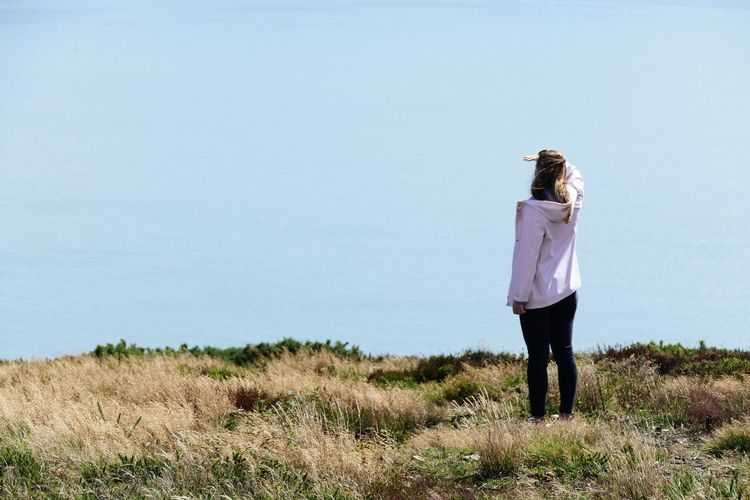 One Person Real People Standing Casual Clothing Lifestyles Sky Day Nature Clear Sky