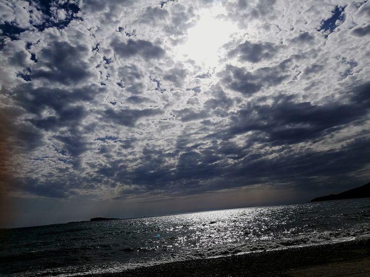 Sea Beach Cloud - Sky Sunlight 🌞sun 🌊☀️❤️ beauty in nature Sky Day Nature Beach Time Clouds Sun Sun Hiding Behind The Clouds Sun Hiding Sun Behind Clouds Peaceful View