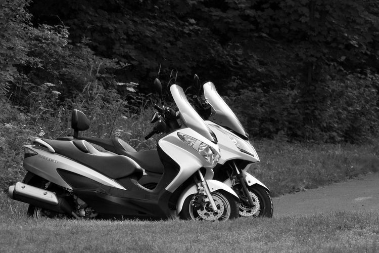 Kymco Motorcycle Road Trip Day Field Grass Land Vehicle Mode Of Transport Nature No People Outdoors Racecar Roadtrip Sport Suzuki Transportation Tree