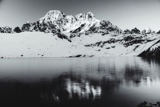 Gokyo Lake Sunrise 5100m Travel Photography EyeEm Nature Lover Monochrome The Explorer - 2014 EyeEm Awards Landscapes With WhiteWall Great Outdoors With Adobe The Great Outdoors With Adobe The Great Outdoors - 2016 EyeEm Awards Fine Art Photography