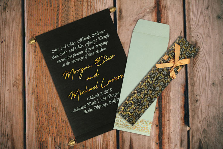 Product Details: Envelope: Made from 130 GSM, Sky Blue Color, Shimmer Paper Card: Made from 60 GSM, Black Color, Wooly Paper Product Price: $ 2.00 Shop Here: https://www.123weddingcards.com/card-detail/SC-5014I For More Scroll Invitations: https://www.123weddingcards.com/scroll-wedding-cards-invitations 123WeddingCards Scroll Wedding Cards, Scroll Wedding Invitation Cards Scroll Wedding Invitations Wedding Invitations In USA, Wooly Invitations Scroll Cards, Scroll Invitations Wedding Invitations