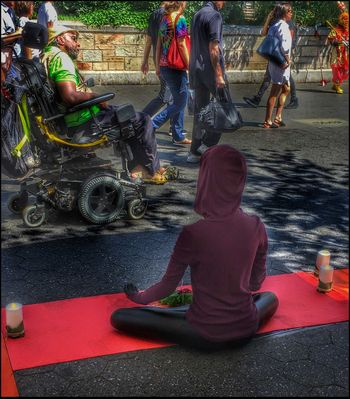 Meditation Booth @ Union Sq. - 6/17/16 As I Sees It City Life EyeEm Best Edits EyeEm Best Shots EyeEm StreetPhotography, NYC Feel The Journey Fresh On Market June 2016 IPhone Edits W/ Snapseed Opportunistic Images On The Go Original Experiences People Passing Bye The Innovator Reportage Images Taking Photos Photography From My Point Of View Live Love Shop