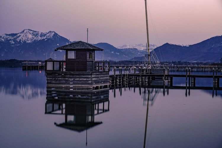 Chiemsee in the evening