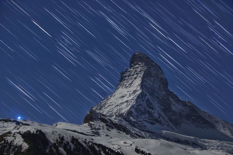 EyeEmNewHere Star - Space Night Mountain Range Star Trail Zermatt Matterhorn  EyeEm Best Shots EyeEm Nature Lover EyeEm Best Shots - Nature Eyeem Market EyeEmNewHere EyeEmNewHere