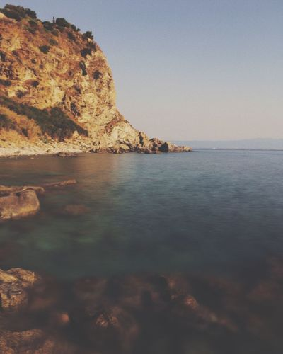 Sea Scenics Nature Water Tranquility Beauty In Nature Tranquil Scene Rock - Object Outdoors Sky No People Waterfront Clear Sky Day Horizon Over Water Scenery Vscocam VSCO Vscogood VSCO Cam