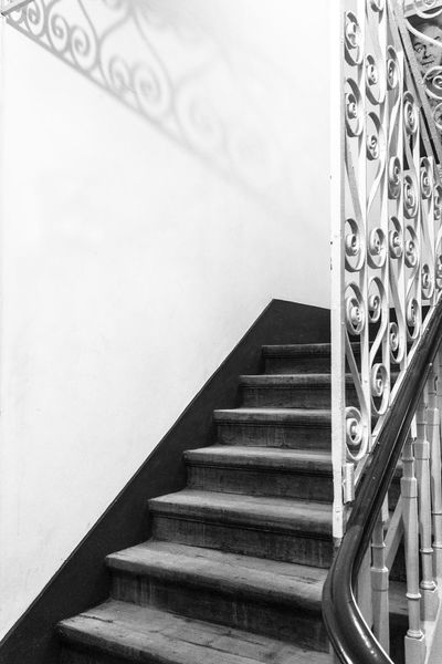 Beautiful Blackandwhite EyeEmNewHere Grainy Indoors  50mm Darkness And Light Architecture Iron Stairs Stairways Hallway Old Buildings in Guimarães