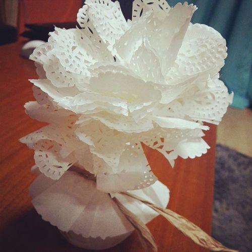 집에서 뚝딱~종이로 쓱싹쓱싹~만든 종이꽃디퓨져 꽃 대박 능력자 onelove