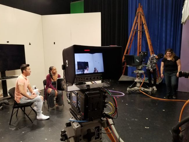 Indoors  Arts Culture And Entertainment People Adults Only Sitting Adult Only Women Technology Filming Young Adult Film Industry Day EyeEmNewHere Note8photography Studio Shot Onset Stage Show