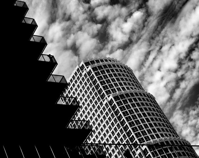 Cloudy Daze California Architectural Photography EyeEm Best Shots Los Angeles Skyline Los Angeles Architecture Downtown Los Angeles Blackandwhite Photography DowntownLA Clouds