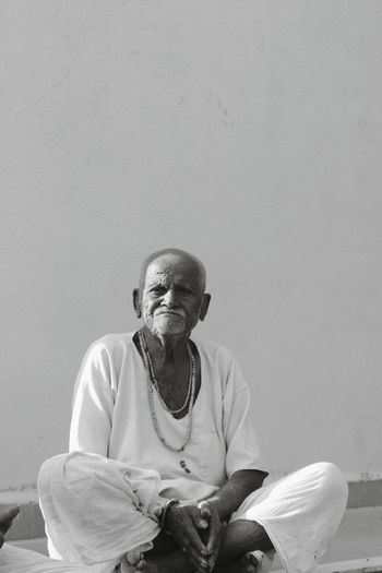 wrinkles are engraved smiles. Indian Saint Aged Wrinkles Roots Bnw Wallpaper Temple - Building Desi Blackandwhite Pujari Praising The Lord Sitting One Person Senior Adult Adult People Mature Adult This Is Aging