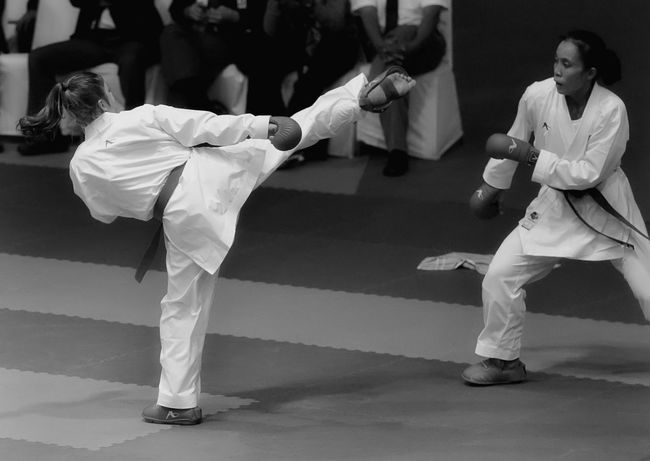 Karate Karategirl Sports Championship Kick Martial Art