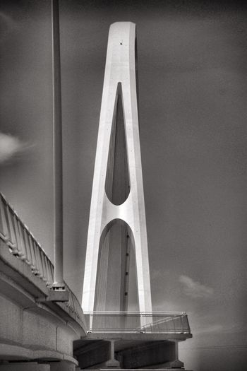 Margaret McDermott bridge, Dallas, Texas Architecture Built Structure No People Sky Day Low Angle View Nature Building Exterior Bridge Outdoors Bridge - Man Made Structure Cloud - Sky History Building Transportation The Past Connection Architectural Column Art And Craft Wall - Building Feature