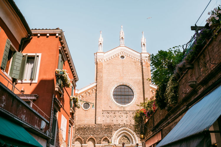 Venice Built Structure Building Exterior Architecture Place Of Worship Building Spirituality Religion Belief Sky Low Angle View Nature Day City No People Clear Sky Window The Past Outdoors Clock