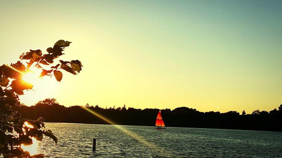 Sunset Lake Sailboat Minneapolis Minnesota First Eyeem Photo 43GoldenMoments