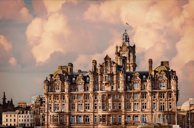 Balmoral Hotel in a Golden Light Architecture City Building Travel Destinations Residential District Travel Tower Sunset Apartment Gothic Style Edinburgh Hotel Hotel View Balmoral Hotel Downton Abbey Royal Cloudy Gold Golden Hour Façade Advertising Photography Amazing View Light And Shadow Scotland Grand