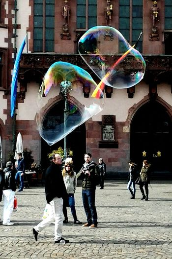 Blowing Bubbles Rainbow Street Artist Crowds Sunshine Listening To Music Up Close Street Photograpy Streetphotography Up Close With Street Photography From Where I Stand Check This Out The Street Photography - 2016 EyeEm Awards