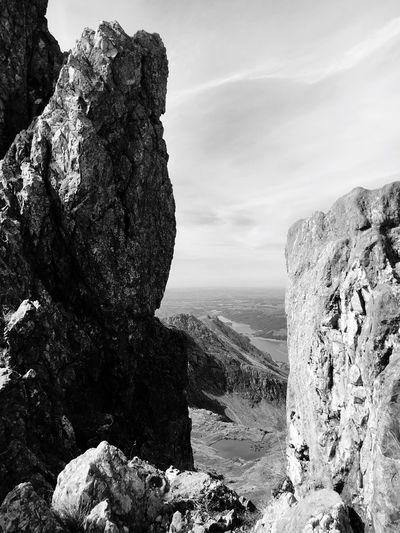 Crib Goch At Snowdonia National Park Against Sky