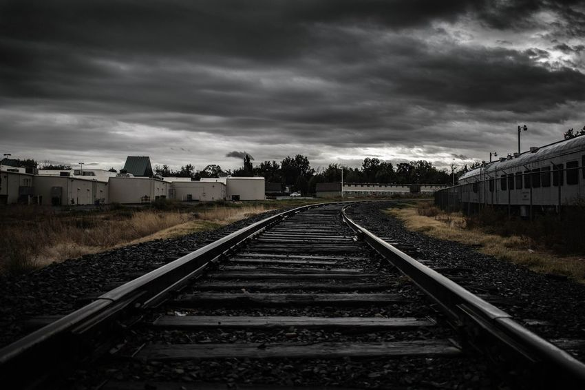 Train of Thought 💭 Transportation Rail Transportation Straight The Way Forward Building Exterior Built Structure Architecture Sky Railway Track Diminishing Perspective Cloud Long Surface Level Outdoors Vanishing Point Day Cloudy Cloud - Sky Countryside