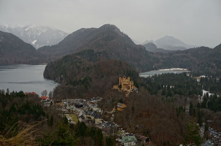 Architecture Beauty In Nature Building Exterior Built Structure Day Hohenschwangau Lake Mountain Mountain Range Nature No People Outdoors Scenics Sky Tranquility Tree Water