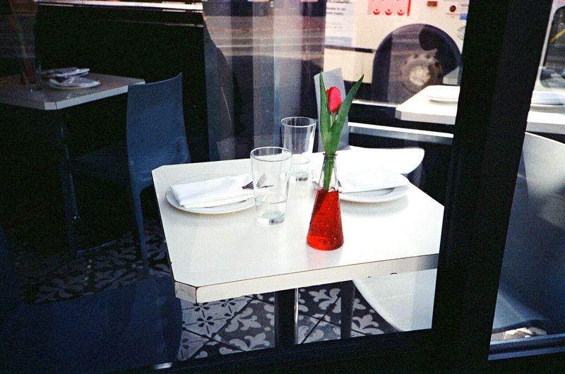 Film Indoors  Table No People Chair North Beach Cafés Trattoria Pinnochio F2/400 Koduckgirl Leica M6