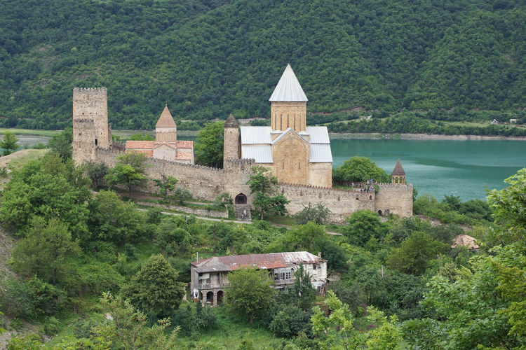 Fortress Ananuri, Georgian Military Road, Georgia, Europe Ananuri Ancient Architecture Building Exterior Castle Church Citadel Day Europe Fort Fortress Fortress Ananuri Georgia Georgian Military Road History Outdoors Place Of Worship Religion Sights Sightseing Tourism Tourist Attraction  Travel Travel Destinations
