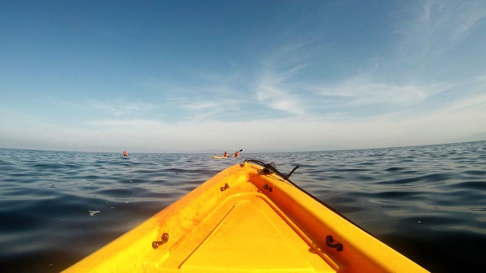 lead the way Puerto Vallarta Mexico Sailing Travel Ocean Waves My Point Of View Summer Ocean View Sea Kayak Travel Adventure Kayaking Summer Fun Gopro Yellow Boat Sand Sky Nautical Vessel Nature Outdoors An Eye For Travel