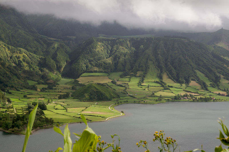 Scenic view of acores - sao miguel