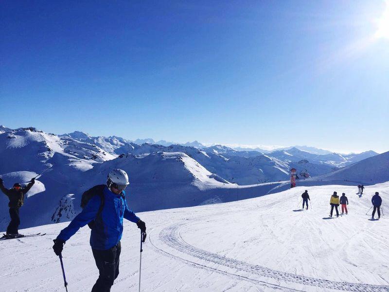 Skiing Ski Blue Sky Sky Meribel