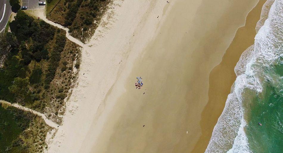 Scenics Water Outdoors Beach Sea Wave Tranquility Birdseye View Drone  Queensland Sunshine Coast Australia