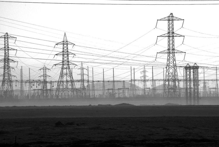 Cable Electricity  Electricity Pylon Power Line  Connection Power Supply Fuel And Power Generation Technology Telephone Line Telephone Landscape Silhouette Day Business Finance And Industry Fog No People Outdoors Sky Chile Telecommunications Equipment Above