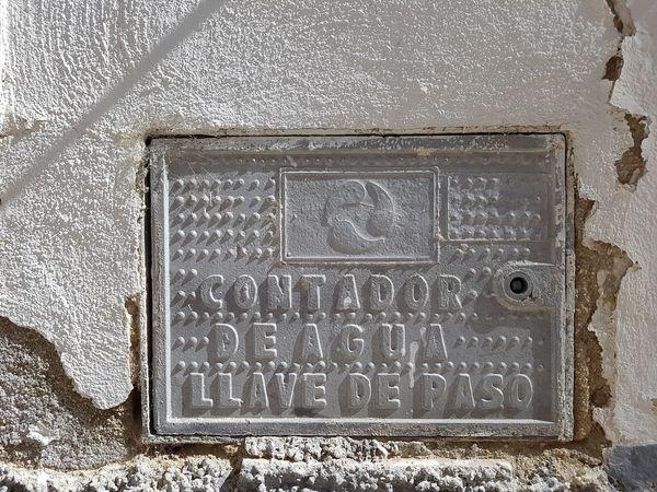 Shut-off Valve Valve Water Water Meter Outdoors Sunlight Shadow Detail Street Photography Wall Close-up