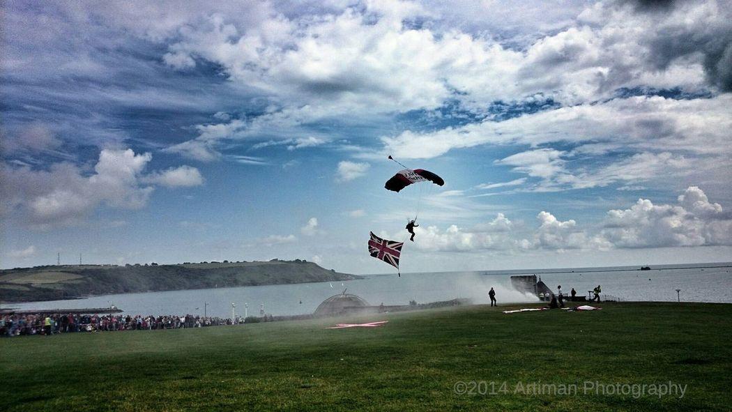 Sky Navy Clouds Parachute