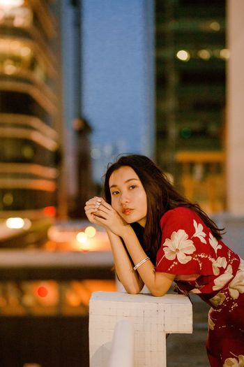Portrait Portrait Of A Woman Portrait Photography Urban City Cityscape Night Photography Night Evening Girl Looking At Camera Child Urban Scene Skyscraper
